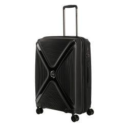 Titan PARADOXX M fekete uni 4 kerekű bővíthető közepes bőrönd