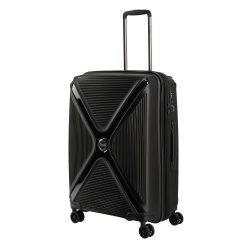 Bőrönd TITAN Paradoxx M fekete uni 4 kerekű bővíthető közepes méret