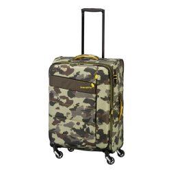 TRAVELITE Kite M terepmintás 4 kerekű közepes bővíthetős bőrönd