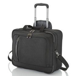TRAVELITE Crosslite fekete 2 kerekű pilóta táska