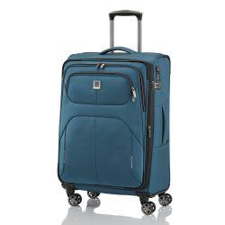 Bőrönd TITAN Nonstop M petrol 4 kerekű bővíthető közepes méret
