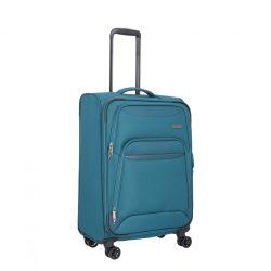 TRAVELITE Kendo M petrol 4 kerekű bővíthető közepes bőrönd
