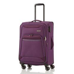 TRAVELITE Kendo M lila 4 kerekű bővíthető közepes bőrönd