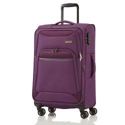 TRAVELITE Kendo L lila 4 kerekű bővíthető nagy bőrönd