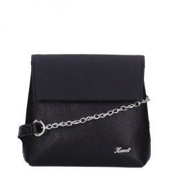 KAREN D 383 Fekete rostbőr női kicsi alkalmi táska