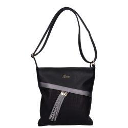 KAREN 9165 Fekete rostbőr női táska
