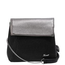 KAREN D 383 Fekete-Grafit rostbőr női kicsi alkalmi táska
