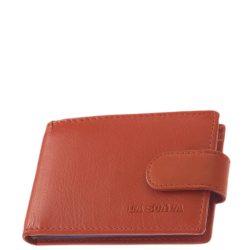 LA SCALA AD30809/T Piros bőr női kártyatartó