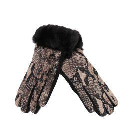Kesztyű textil YN0279 Fekete kígyó