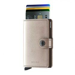 SECRID Miniwallet Metalic Pezsgő-Barna mini pénztárca