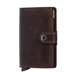 SECRID Miniwallet Vintage Chocolate mini pénztárca
