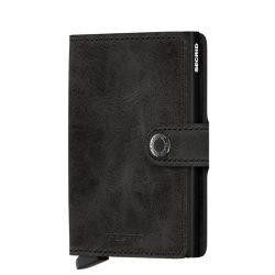 SECRID Miniwallet Vintage Fekete mini pénztárca