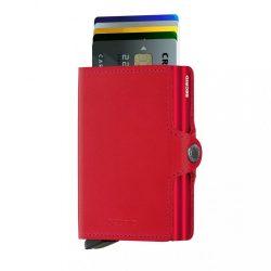 SECRID Twinwallet Original Piros-Piros dupla kártyatartó