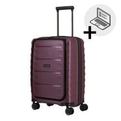 Bőrönd TITAN Highlight S merlot 4 kerekű laptoptartós kabin méret