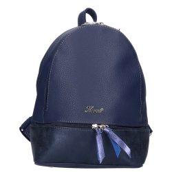 KAREN 9285 Kék rostbőr női hátizsák