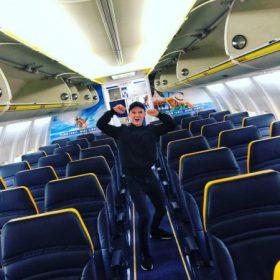 Ryanair méretű bőrönd 55x40x20cm